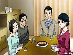 Hentai meisje zuigt en krijgt gelikt