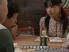 Asian Babe in Gangbang sex