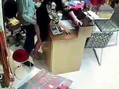 Asiatiske fuking i butikken