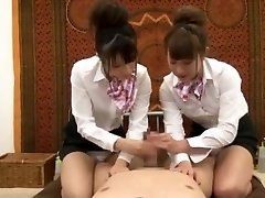 Crazy Japanese chick Hinata Tachibana, Hiyori Wakaba, Eri Ouka in Horny Handjobs, Threesomes JAV movie