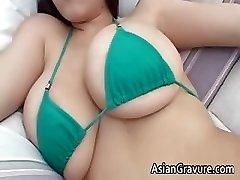 Cute dark-haired asian hottie part4