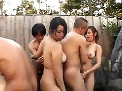 Asian Pool Party Completes With Orgy Fucking