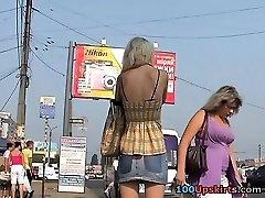 Chinese upskirt voyeur action