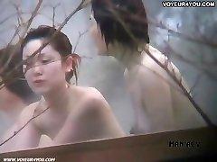 Hot spring voyeured figure expose