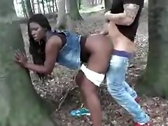 Ebony Wife Fucked Outdoor By Milky Dick Cuckold Film