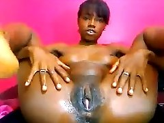 ebony creamy masturbating 68
