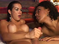 Great Brunette and Ebony Shemale