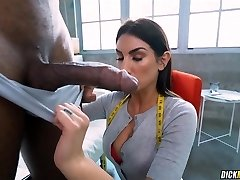 Measuring his Good-sized Black Cock