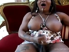 Two big black trannies get it on
