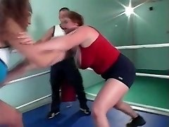 huge-titted grappling