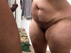 Super ginormous milf sucking cock