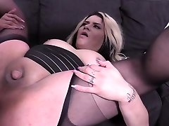 Warm shemale fucked hard and cumshot