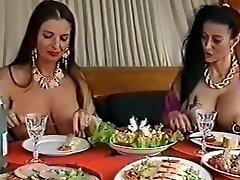 Two busty pierced bitches having fun