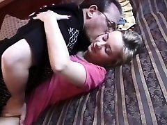 Homemade retro porn video of amateur railing dick
