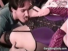 Pregnant mom sucks many hard cocks part5