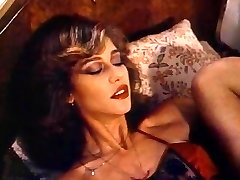 Retro Classic - Lady in Satin Lingerie Pleasing Herself