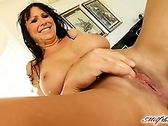 Mandy lose some weight and is looking very hot. She makes her way to MILFThing in a black obession dress. This movie is historic from crazy fisting to dual vaginal  squirting and more
