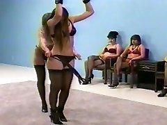 femdom flagellating in underwear (bra and fullback pantys)