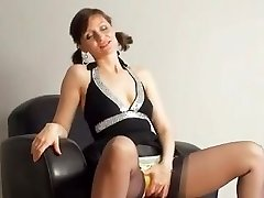 Kirsty Blue Jerks With Her Panties On