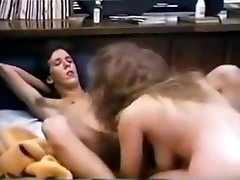 Busty college babe has superb sex in 80s dorm room