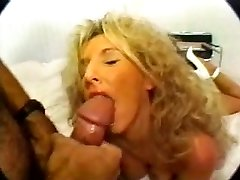Classic Blonde Busty Cougar Banging in High Stilettos
