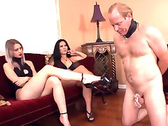 Slave foot worship