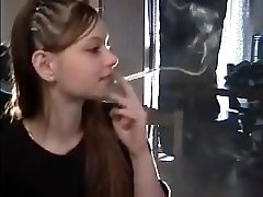 Pretty girl smoking