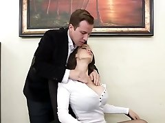 Super whore McKenzie Lee gets plunged hard right on the table
