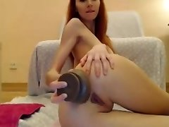 MsLily Big Dildo Assfucking