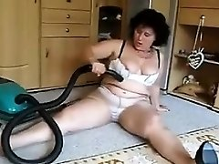 Mature Girl Vacuums Her Dirty Pussy