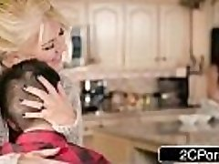 Silly Boy Gets Lucky With Mom&#039_s Hot Mate Ariella Ferrera