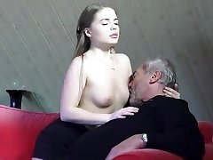 Old Young Porno Little Girl Fucked By Clean-shaved Grandpa in her moist perfect pussy