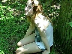 Ultra-cute german school girl girl fucked outdoors