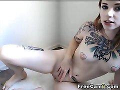 Sexy Tattoo Redhead Babe