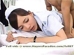 Rio smart naughty Asian nurse gets fucked hard