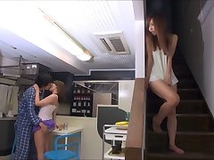 Ayumu Sena and other Japanese girls in short skirts groped