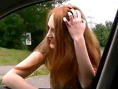 Street Hooker Giving A Blowjon in the Car