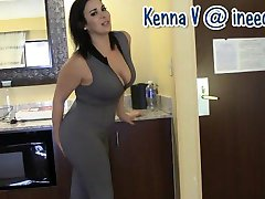 New Kenna V. wetting her panties and spandex