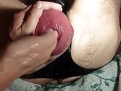 Going Knuckle Deep A Gigantic Eggplant