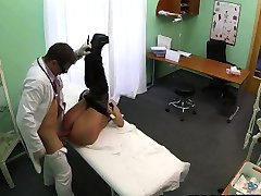 Sexy brunette patient gets fucked by her doctor