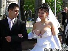 Real Brides Show Their Pussies!