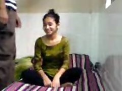 Innocent Indian Coed Sucks Drills in BFs Dorm Room