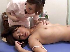 Japanese lesbian orgasm massage