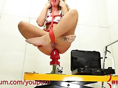Savannah Fox is anally destroyed, then jammed with massive butt plug