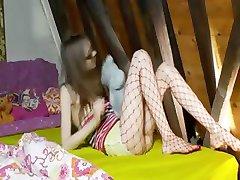 18 years old skinny princess teasing
