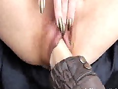 Fist fucking the wife's pussy at the park