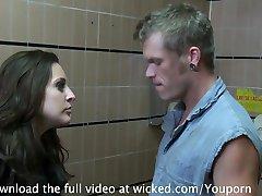 Schoolgirl Gracie Glam Gets NAILED in Bathroom