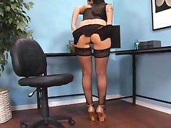 Brandy Aniston – hot secretary in stockings