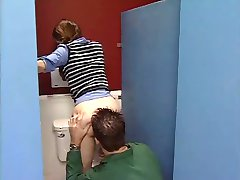 Innocent teen in the bathroom