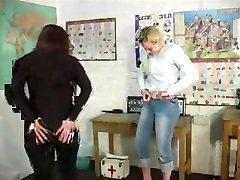 Girls get spanked